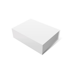 Elegant white box mockup vector
