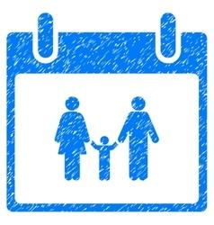 Family Calendar Day Grainy Texture Icon vector image