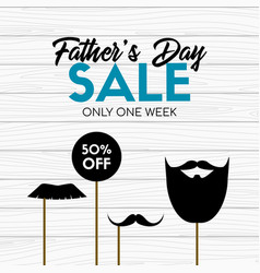 fathers day sale card banner with photo props vector image
