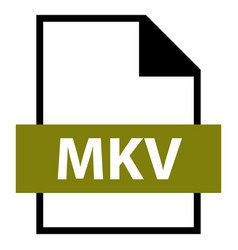 File name extension mkv type vector