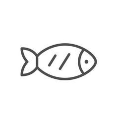 fish line outline modern icon vector image