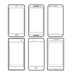 Graphic collection of smartphones vector