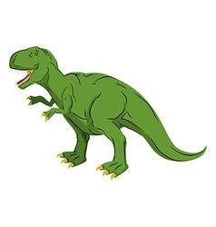 Green giant Dinosaur Tyrannosaurus Rex Prehistoric vector