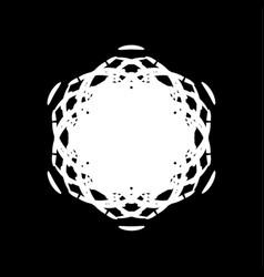 grunge painted snowflake vector image