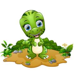 Happy tyrannosaurus cartoon vector