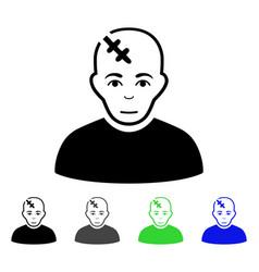 Head hurt flat icon vector