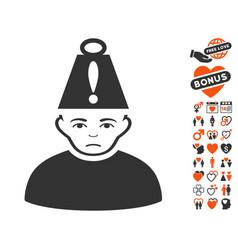 head stress icon with valentine bonus vector image