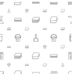 Household icons pattern seamless white background vector