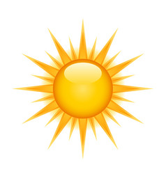 icon of glossy bright sun on white background vector image