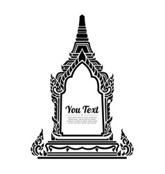 Line thai art thailand vector