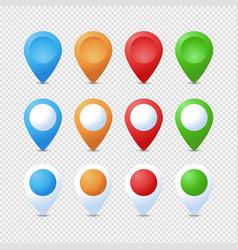 location pins set marker 3d map pointer pin set vector image