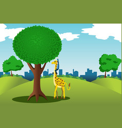 man reaching for money on a tree vector image