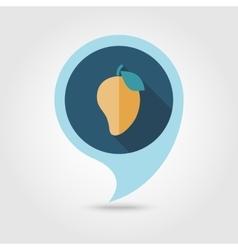Mango flat pin map icon Tropical fruit vector image