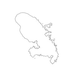 Martinique map outline vector