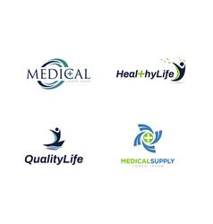 Medical supply company business logo vector