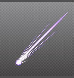 Meteorcomet or rocket trails vector