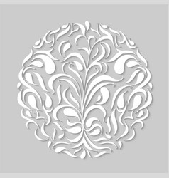 modern paper cut floral element vector image