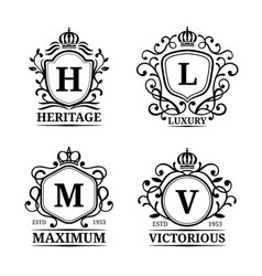 Monogram logo templates luxury letters vector