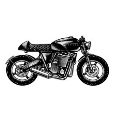 motorcycle or bike retro motor bicycle for vector image