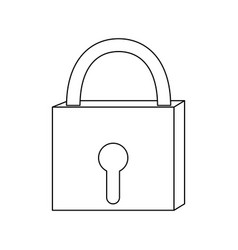 Outline closed padlock object security access vector