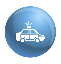 Police car icon simple style vector