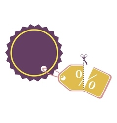 Price tag or label icon image vector