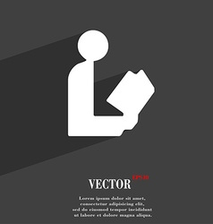 read a book icon symbol Flat modern web design vector image
