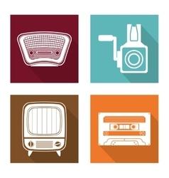 Retro objects vintage design vector image
