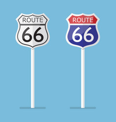 route 66 road sign set vector image vector image