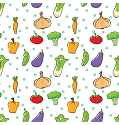 Seamless design with vegetables and spices vector image