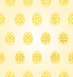 Seamless texture Easter eggs vintage vector image