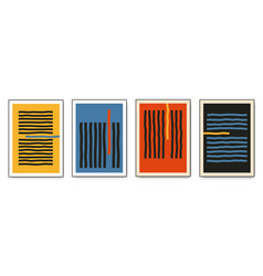 set minimalistic geometric posters vector image