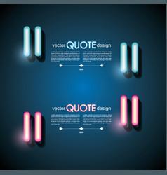 Set neonr quote frames lighting sign vector