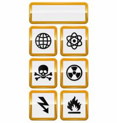 Set of danger icons vector
