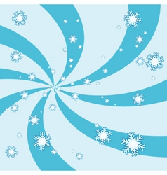 Snowy swirl vector