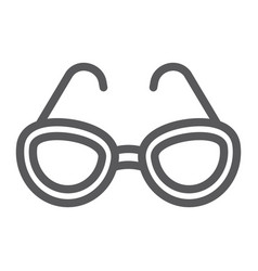 sunglasses line icon glasses and fashion vector image