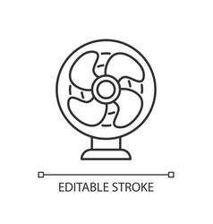 Table fan linear icon vector