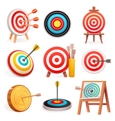 target icon set cartoon style vector image