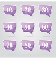 text bubble SALE vector image