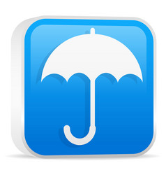 umbrella icon blue vector image