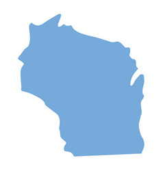 Wisconsin state map vector