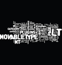 best movabletype plugins text background word vector image vector image