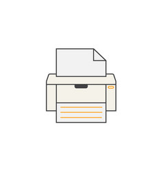 fax line icon printer electronic device vector image