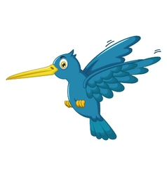 king fisher cartoon flying vector image