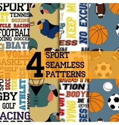 Sport patterns set vector image