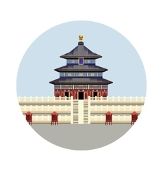 Temple of Heaven icon vector image vector image