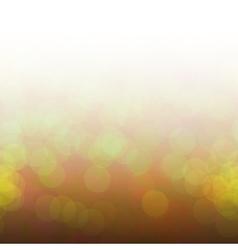 Yellow bokeh lights vector image