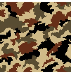 Camouflage seamless background vector image