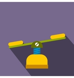 Yellow seesaw flat icon vector image vector image