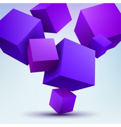 3d cubes on white vector image